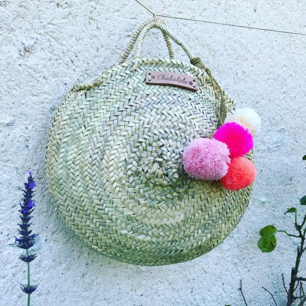 basket with pom pom