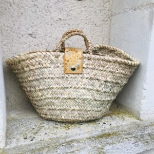 french woven bag
