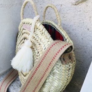 round woven beach bag