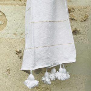 Moroccan blanket pom pom