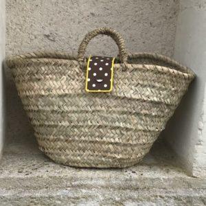 wicker beach basket
